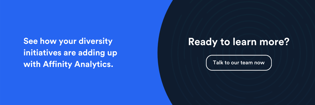 see how your diversity initiatives are adding up with Affinity Analytics