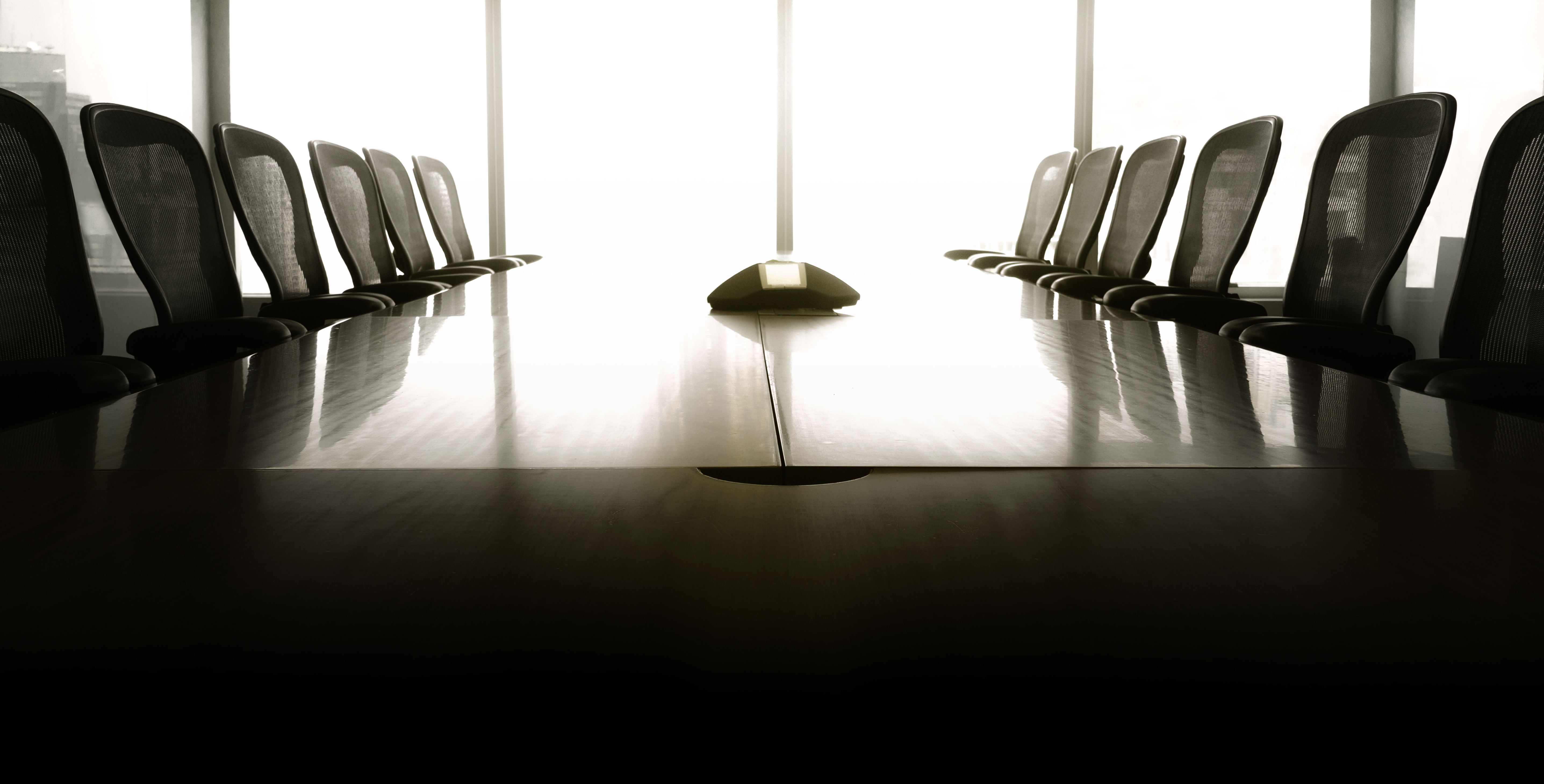empty investment banking conference room