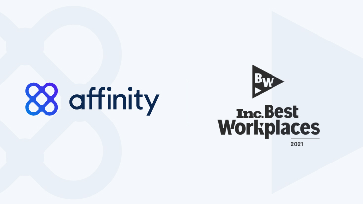 Affinity recognized on Inc. Best Workplaces 2021 list