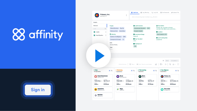 Product: What is Affinity?